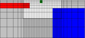 Принцип построения сети для двумерной инверсии