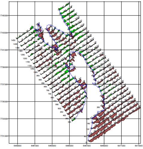 Площадная съемка методом ПИЭП